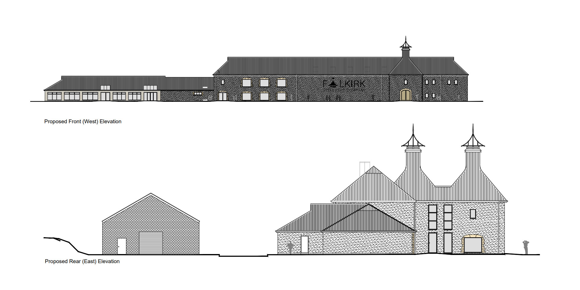 architects proposed plans for falkirk distillery